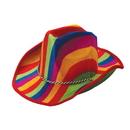 U.S. Toy H398 Rainbow Stripe Cowboy Hat