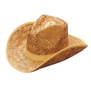 U.S. Toy H406 Tan Woven Straw Rolled Cowboy Hat