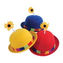 U.S. Toy H469 French Clown Bowler Derby Hat with Daisy