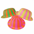 U.S. Toy H498 Striped Derby Bowler Hats