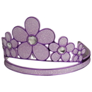 U.S. Toy H547 Purple Glitter Flower Tiara