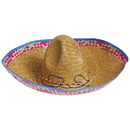 U.S. Toy H557 Adult Sombrero with Colored Straw