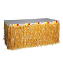 U.S. Toy HL126 Natural Luau Table Skirt With Flowers