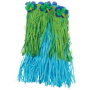 U.S. Toy HL349 Blue & Green Hula Skirt with Flowers - Child Size