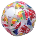 U.S. Toy HL359 Clear Luau Beach Ball Inflates
