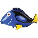 U.S. Toy IN412 Blue Tang Fish Inflate