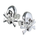 U.S. Toy JA672 Metallic Skull Rings