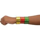 U.S. Toy JA854 Metallic Slap Bracelets / 6-pc