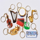 U.S. Toy KC227 Musical Instrument Key Chains