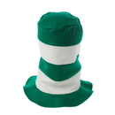 U.S. Toy KD10-36 School Spirit Green and White Striped Stove Pipe Top Hat