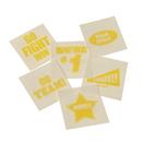 U.S. Toy KD42-08 Yellow School Spirit Temporary Tattoos