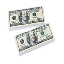 U.S. Toy LM101 $100 Bill Erasers - 36 PIeces