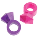 U.S. Toy LM191 Bling Ring Erasers / 8 Pc