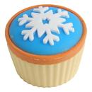 U.S. Toy LM211 Snowflake Cupcake Erasers