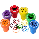 US TOY MX455 Smiley Face Ink Stampers - 6 Pieces