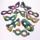 U.S. Toy OD193 Mardi Gras Sequin Eye Masks