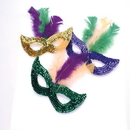 U.S. Toy OD284 Mardi Gras Sequin Masks with Boa Feathers