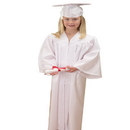 U.S. Toy OD303 White Graduation Cap and Gown