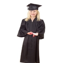 U.S. Toy OD304 Black Gradutation Cap and Gown
