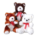 US TOY SB321 Stuffed Teddy Bears with Red Ribbons