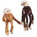 U.S. Toy SB364 Plush Natural Colored Hanging Monkeys