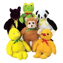US TOY SB394 Assorted Plush Animals