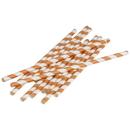 U.S. Toy TU208-02 Paper Straws / Brown