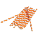 U.S. Toy TU208-09 Paper Straws / Orange