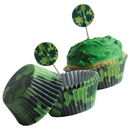 U.S. Toy TU240 Camo Cupcake Kit / 24-sets