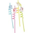 U.S. Toy TU253 Unicorn Straw/4-Pc