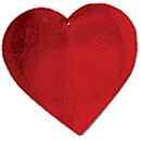 US TOY TU39 12 in. Foil Heart Cutouts - 24 Pieces