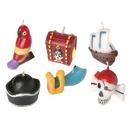 U.S. Toy TU55 Pirate Birthday Cake Candles-6 Pcs