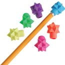 U.S. Toy VL190 Star Eraser Pencil Tops / 48-Pc