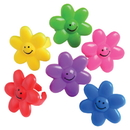 U.S. Toy VL25 Smile Face Flower Rings-48 Pieces
