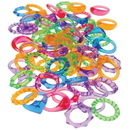 U.S. Toy VL67 Gem Rings-72 Pieces