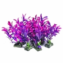 Aquatop AT01189 Plastic Freshwater Aquarium Plant 10 Pack, Purple, 5