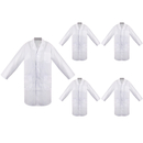 5 Packs White Lab Coat Doctor Nurse Medical Chemistry Lab Coats for Women Men