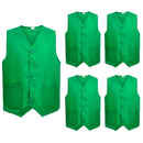 TopTie Supermarket Volunteer Uniform Vest Security Services Workwear Vest(5 Packs)