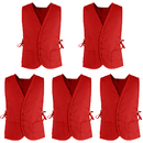 Supermarket Volunteer Vest Unisex Cobbler Apron with Two Front Pockets (5 Packs)