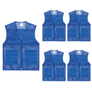 TopTie Adult Mesh Volunteer Vest Activity Team Supermarket Vest With Pocket(5 Packs)