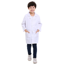 5 Packs Kids White Lab Coats Childrens Scientist Doctor Role Play Costume Bulk