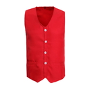 TopTie Front Button Vest with Pockets, Unisex Volunteer Activity Vest