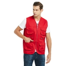 Custom Plus Size Vest for Supermarket Volunteer Activity Multi-pocket Design Your Own Waistcoat