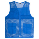 TopTie Adult Mesh Zipper Supermarket Vest Team Volunteer Uniform Vest