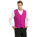 TopTie Unisex Volunteer Vest Waitress Bartender Uniform - Hot Pink