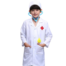 TOPTIE Kids' Long Sleeve Doctors Uniform, Children Costume Lab Coat & Cap