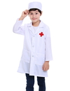 TopTie Kid's Lab Coat with Cap, For Kid Nurse or Doctor