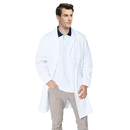 TopTie Everyday Scrubs Unisex White Lab Coat with Three Pockets