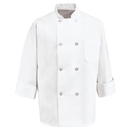 Red Kap 0403WH Eight Pearl-Button Chef Coat - White