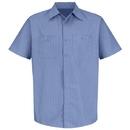 Red Kap SB22BS Short Sleeve Industrial Solid Work Shirt - Blue/Navy